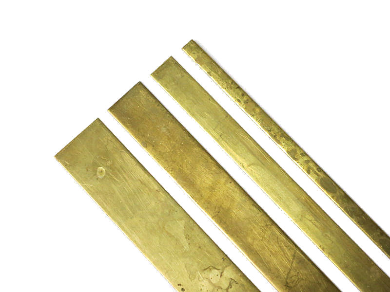 "Brass Straight Edge Set - 1/4"", 1/2"", 3/4"", 1"""