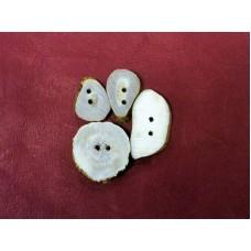 Deer Antler Buttons 4/pk