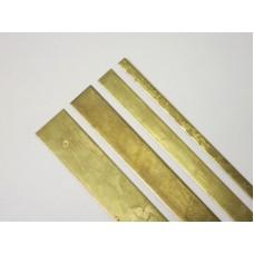 "Brass Straight Edge Set - 1/4"", 1/2"", 3/4"", 1"""
