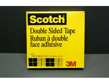 Scotch® 665 Double Sided Tape - 12.7mm x 33m