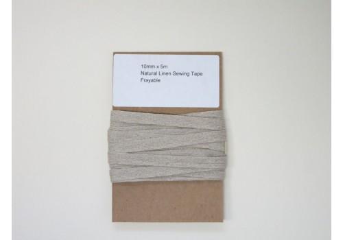 Natural Linen Tape - Frayable - 5m/pk