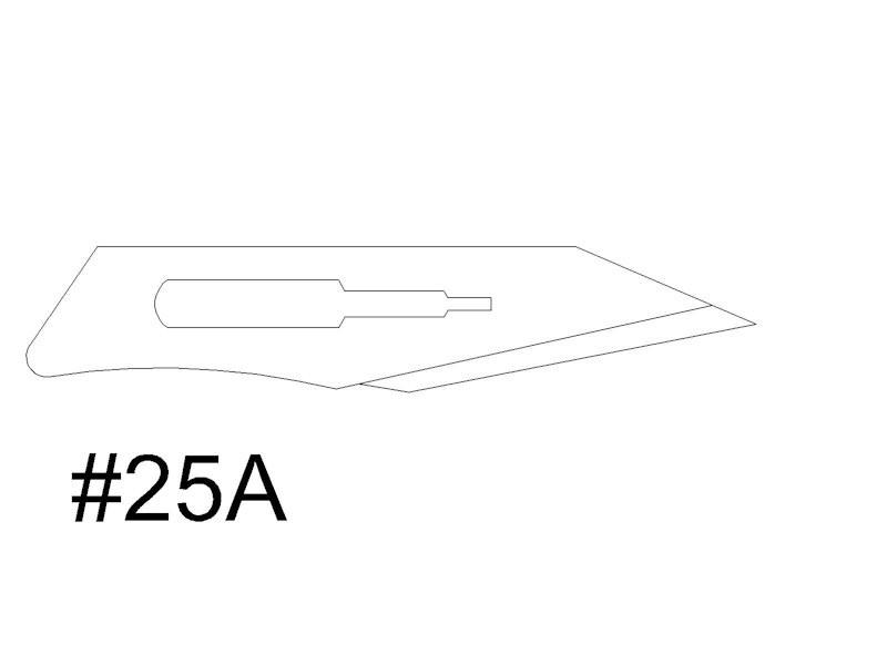 #25A Disposable Scalpel - 10/box